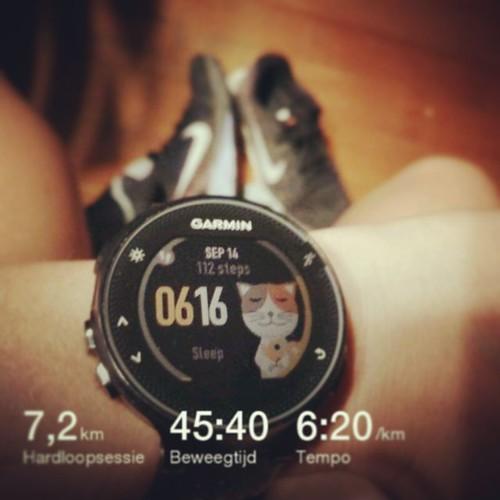 In heel mijn loopcarrière nog maar zelden gedaan: vroeg opstaan om te gaan lopen. #running #garminfr235 #nevernotrunning #vastenenfeesten #summer