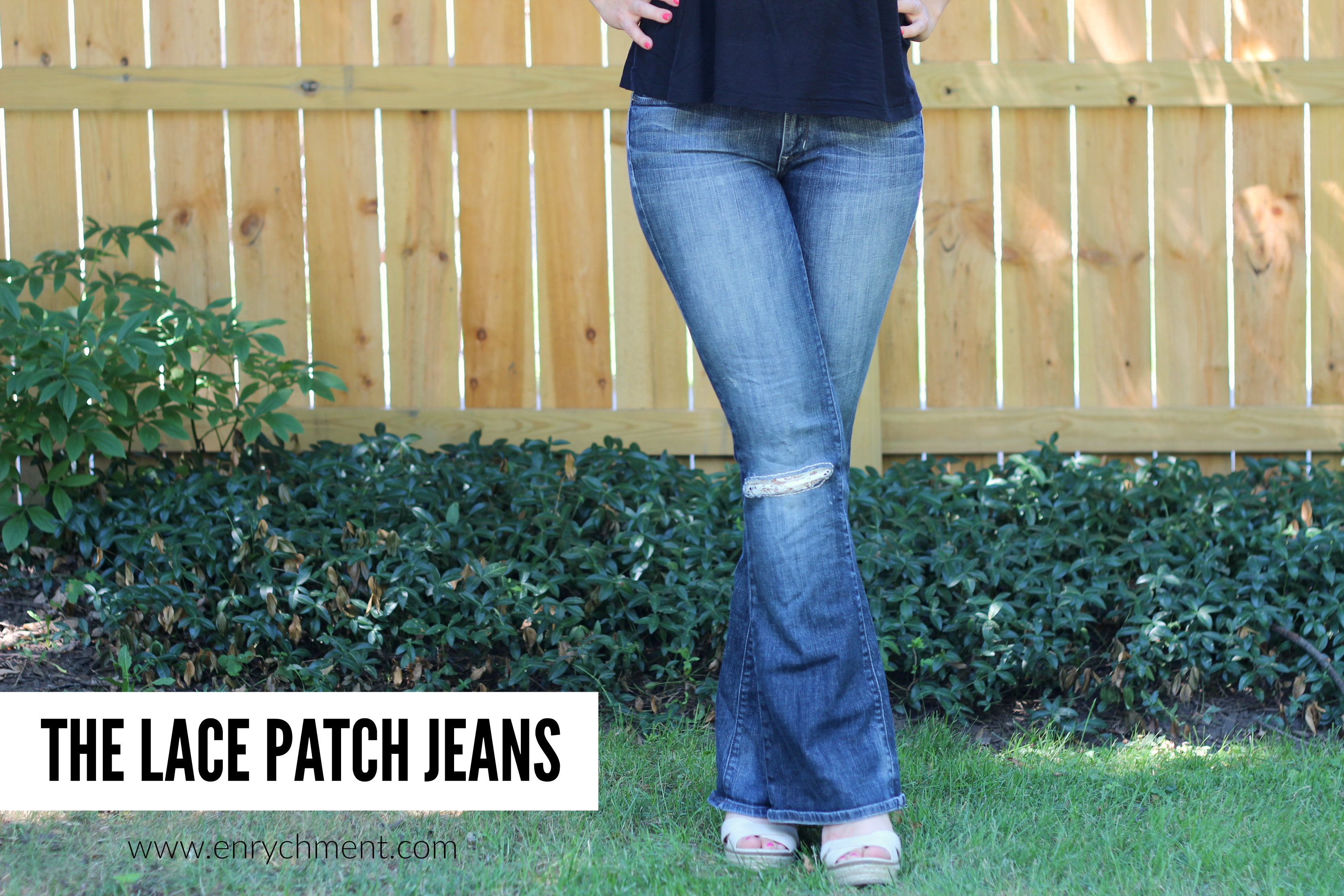 the lace patch jeans