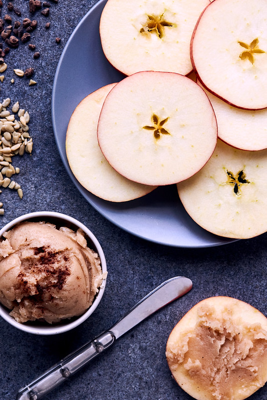 Apple Bites with Pumpkin Spice Coconut Butter