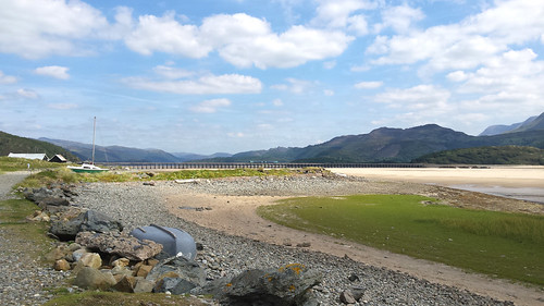 Barmouth Bridge and Mawddach Estuary