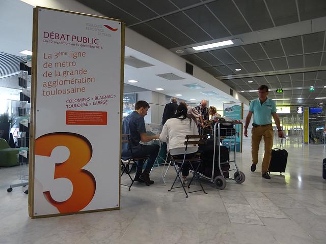 Métro Ligne 3 Toulouse - débat mobile aéroport Blagnac