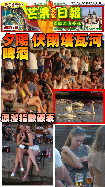 160823芒果日報--國際旅遊--浪漫伏爾塔瓦河,夕陽啤酒伴天鵝