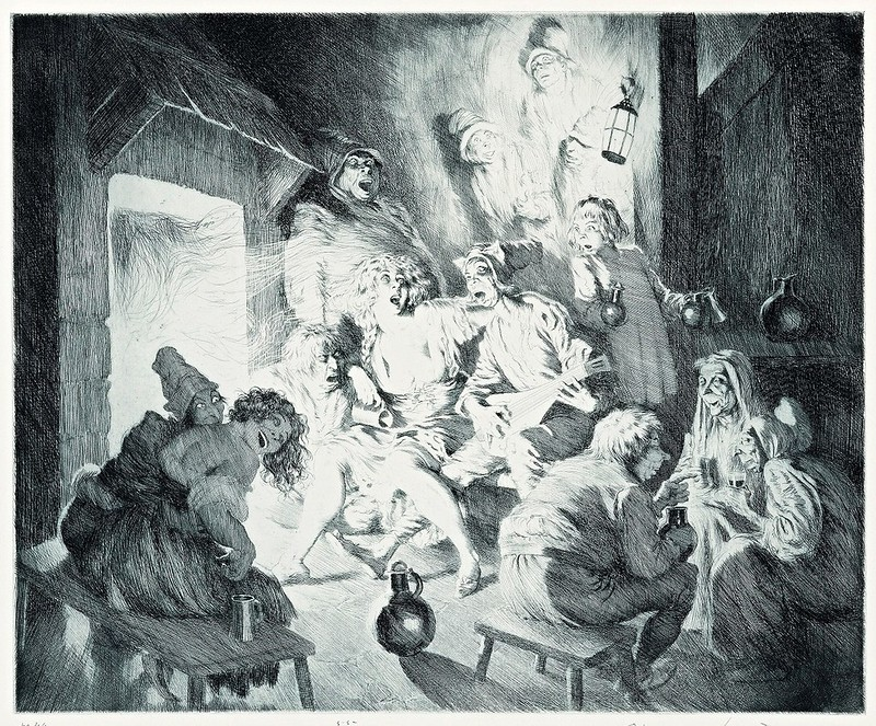 Norman Lindsay - Thieves' Kitchen, 1929