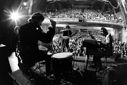 The Doors live at Fillmore East 1968. Photo by Yale Joel.