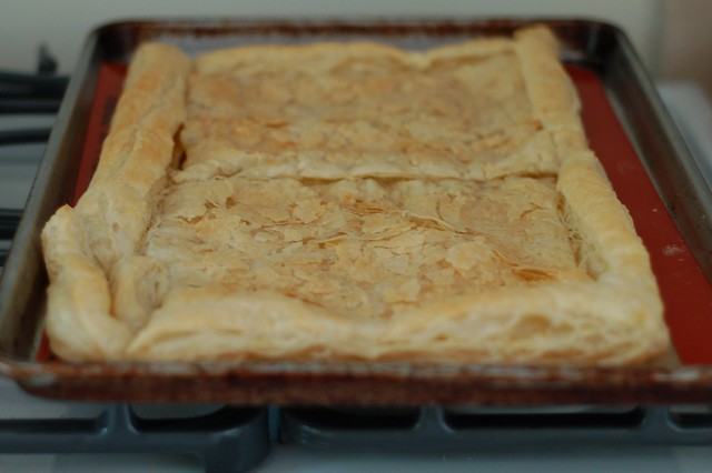 Pre-baking the puff pastry by Eve Fox, the Garden of Eating, copyright 2016
