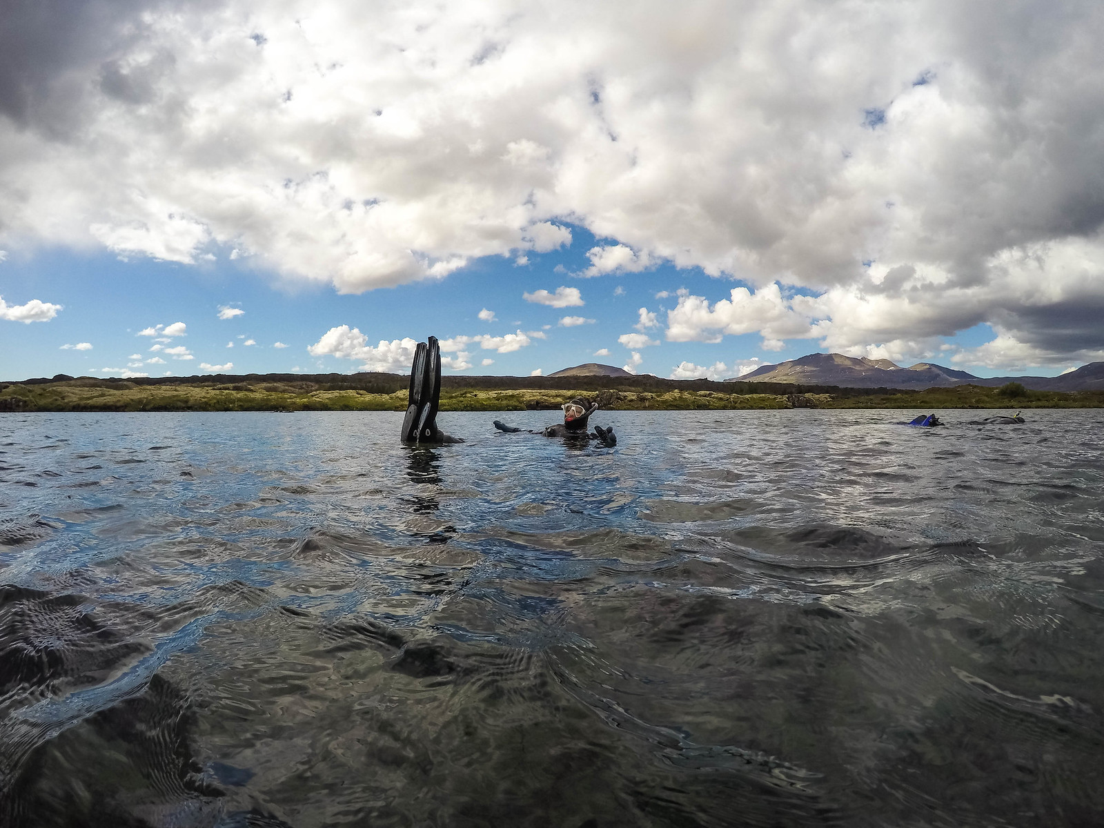 Snorkeling in Iceland's Silfra fissure