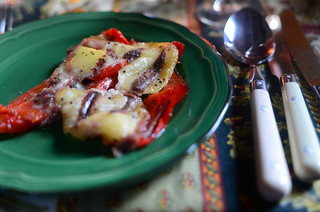 11th July - Grilled Pepper, Goats Cheese and Anchovy | by The Hungry Cyclist