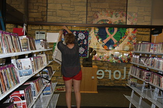 Installation Photo's, Lawrence Public Library Show in Lawrence, Kansas from July 1 - August 31, 2012 | by International Fiber Collaborative, Inc.