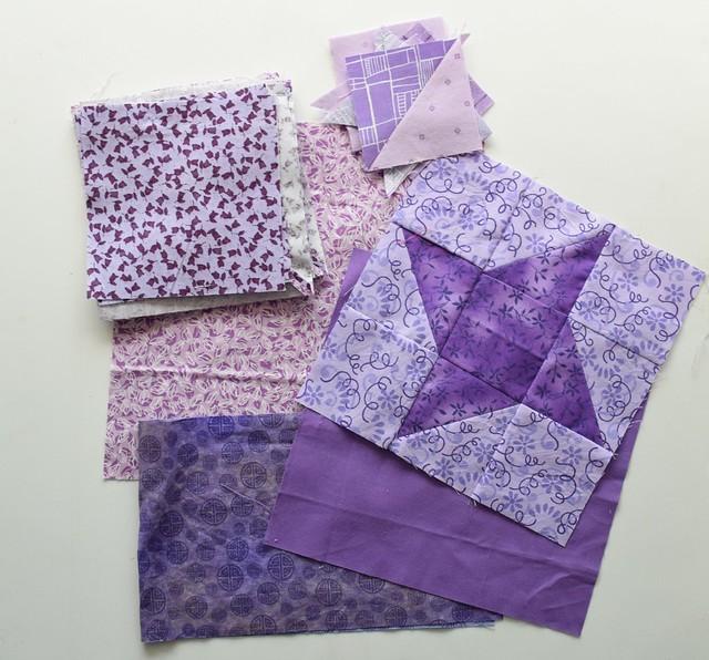 light purple star fabrics
