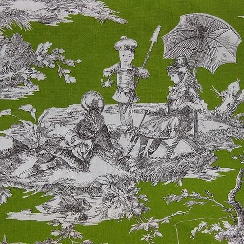 toile de jouy histoire d 39 eau vert pomme traditionnellement flickr. Black Bedroom Furniture Sets. Home Design Ideas