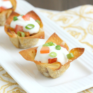 Mini Chicken Taco Cups | by Tracey's Culinary Adventures