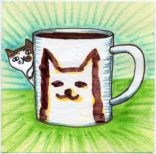 I drew you a Jake the cat & his mug of coffee | by bortwein75