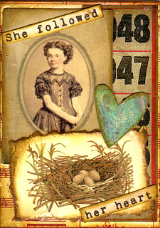 She Followed Her Heart - ATC TRADED | by Norma Frances