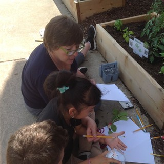 Amy Walker works with 4-H'ers.