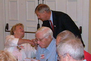 Sen. Graham speaks with attendees at East Cooper Republican Club meeting. | by LindseyGraham.com