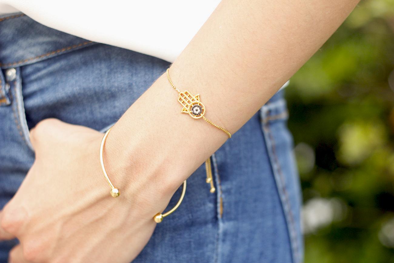 White blouse jeans earrings earcuff jewellery corte ingles joyería verano summer outfit style8