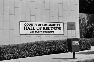 County of Los Angeles Hall of Records - Nikon N55 - AF Nikkor 28-80mm F/3.3-5.8 G - HP5+ | by divewizard