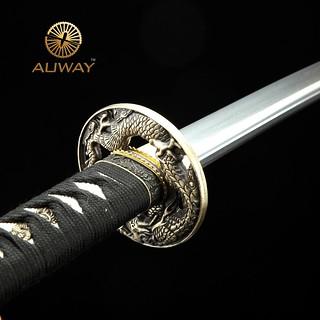 Auway-samurai-sword-Dragon-Tsuba-Black-scabbard-2