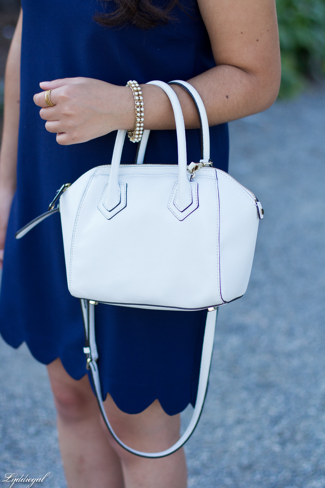 navy scalloped dress, rebecca minkoff bag and sandals-5.jpg