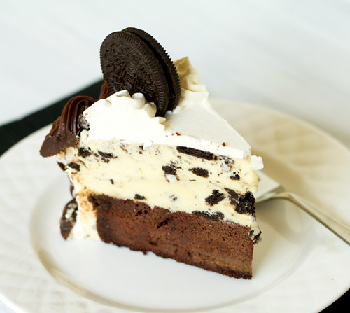 A slice of Cookies and Cream Ice Cream Cake | by Brown Eyed Baker