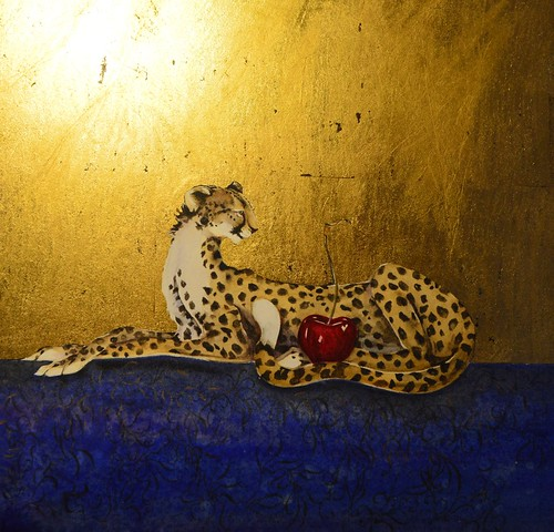 Jackie Morris, One Cheetah, One Cherry