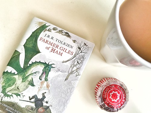 "J.R.R. Tolkien's ""Farmer Giles of Ham"", Tunnock's Milk Chocolate Mallow Biscuit, and a Tall Mug of Hot Milky Tea"