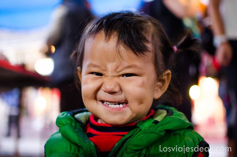 niña tibetana de Leh