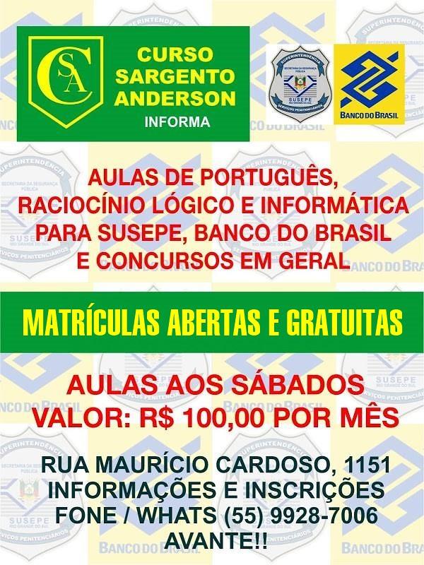 Curso Sargento Anderson 1