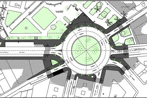Diseño de la nueva rotonda de la avenida Cristóbal Colón