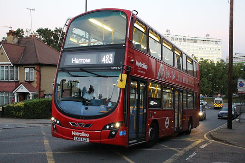 Metroline West VW1276 on Route 483, Wembley Hill Road