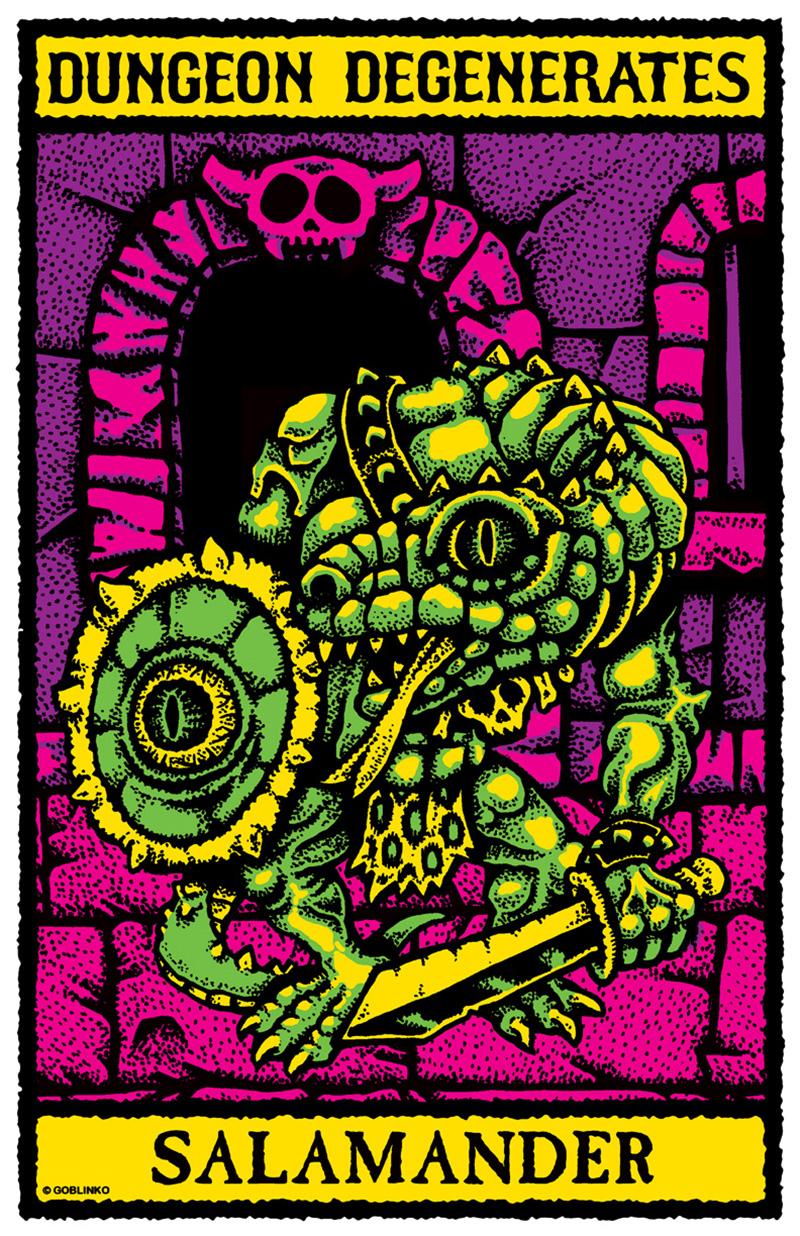 Sean Äaberg - Dungeon Degenerates Poster, Salamander