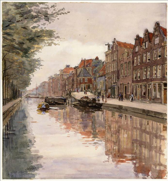 Le canal du T'Smalle à Amsterdam.