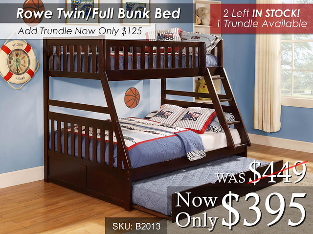 Rowe Twin Full Bunk Bed May INV