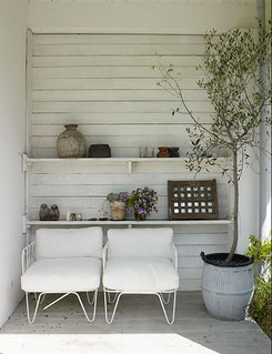beautiful outdoor area in white | by the style files