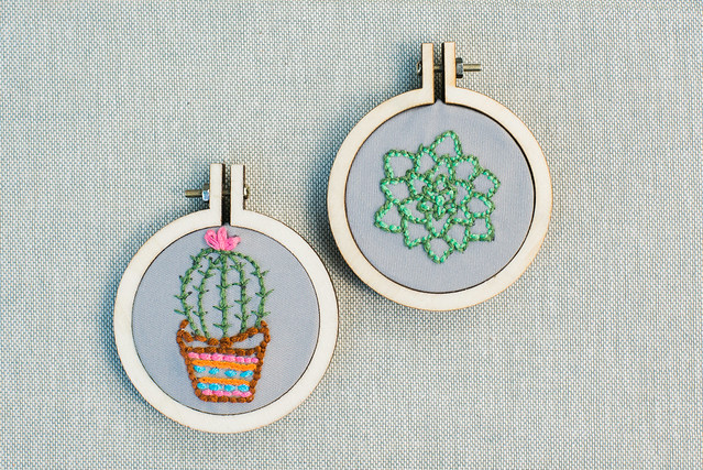 Sewed succulents.