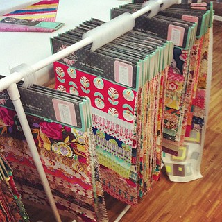 Workin' away in the @artgalleryfab booth! #quiltmarket | by Jeni Baker | In Color Order