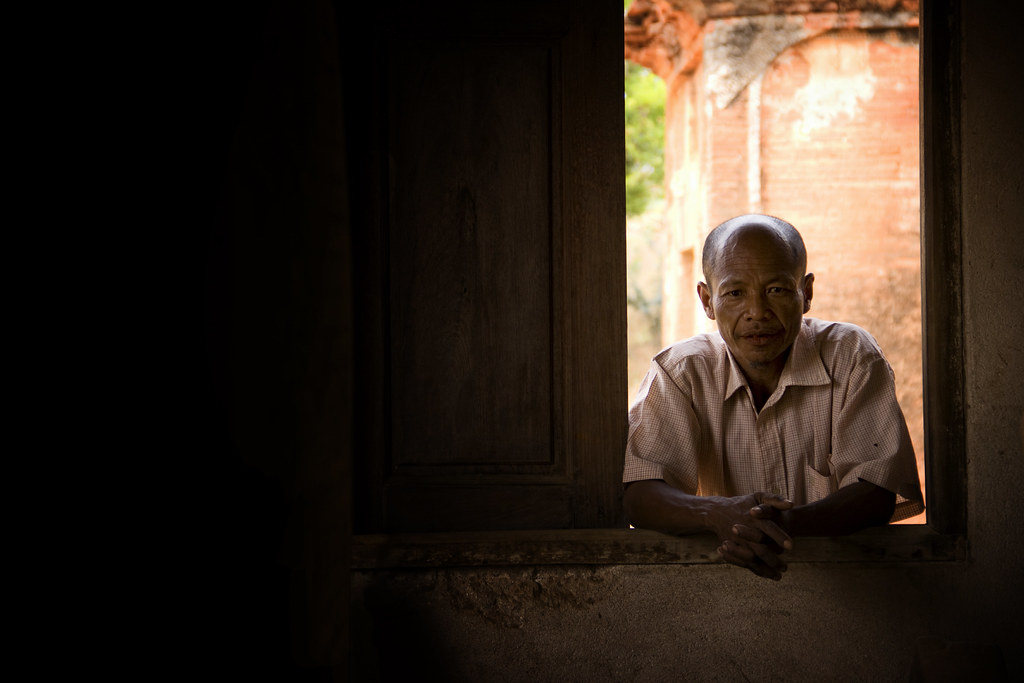 A Burmese Gentleman At A Window
