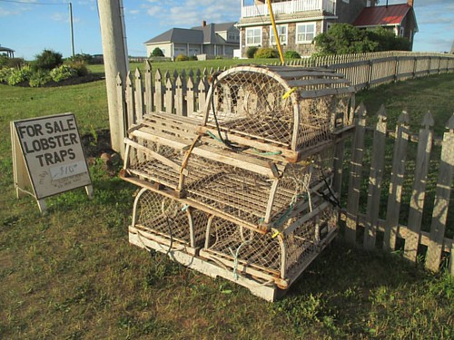 Lobster traps for sale #pei #northrustico #northrusticoharbour #latergram #lobstertrap