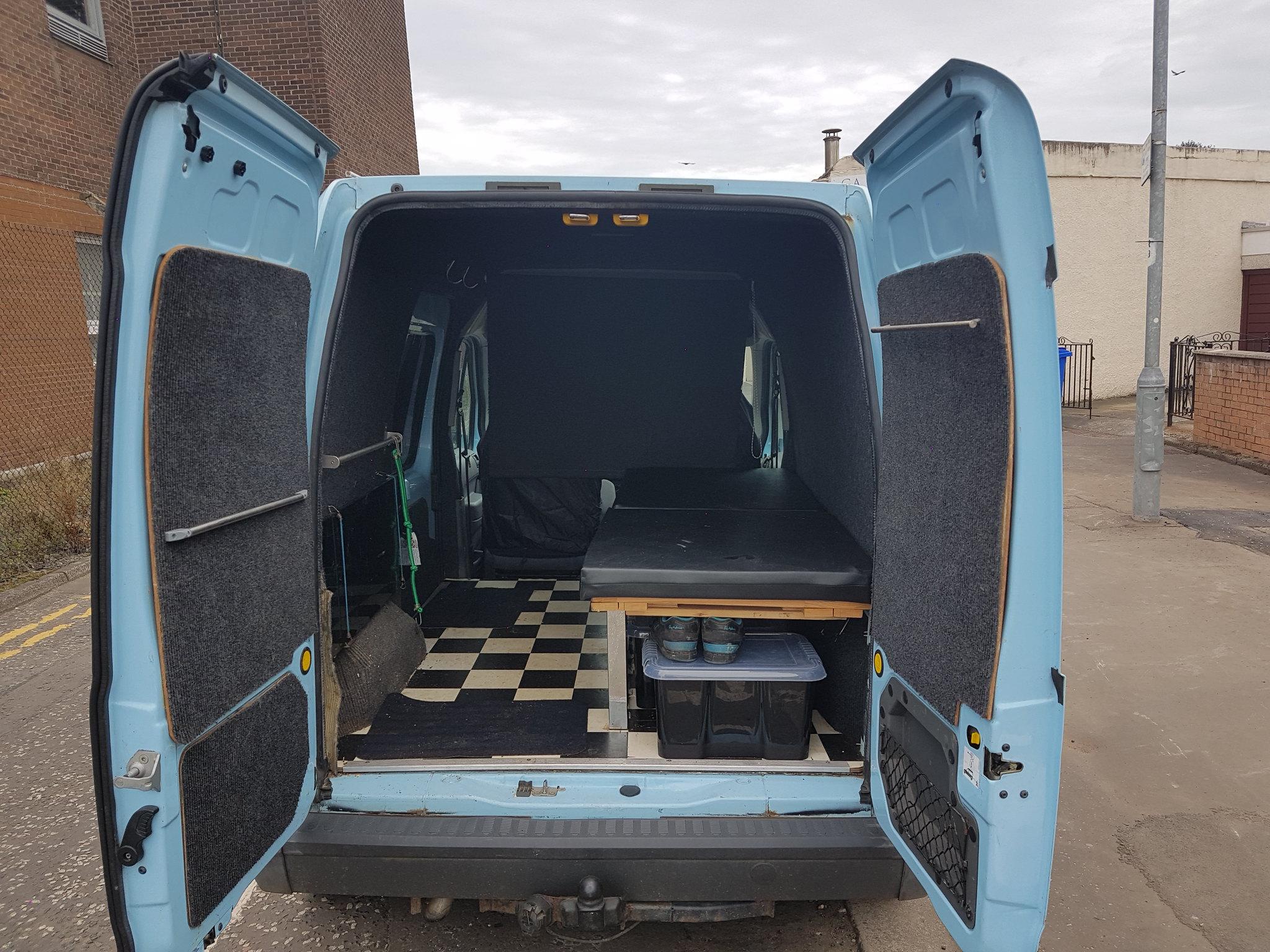 ford transit connect stealth camper race van day van. Black Bedroom Furniture Sets. Home Design Ideas