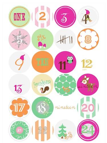 advent calendar free printable tags   Paul+Paula