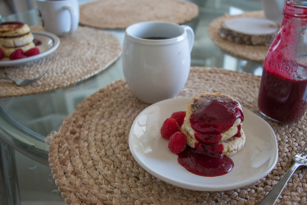08.06. Syrniki with Berry Coulis Sauce