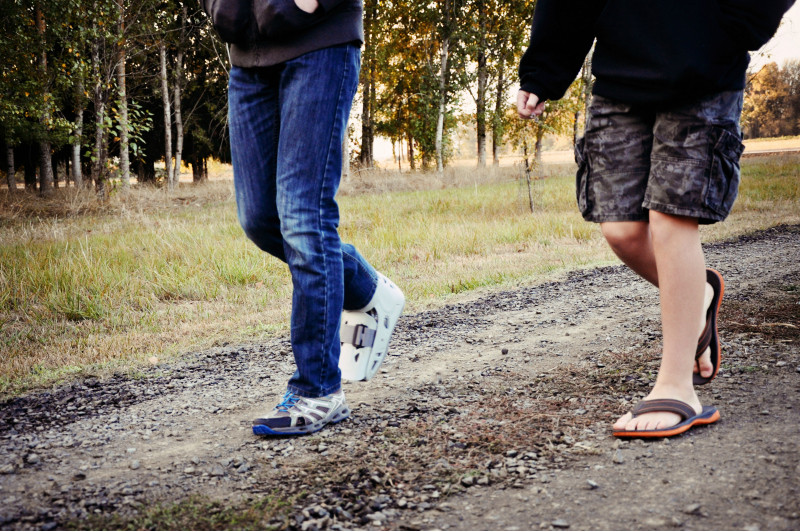 Walking along a road @ Mt. Hope Chronicles