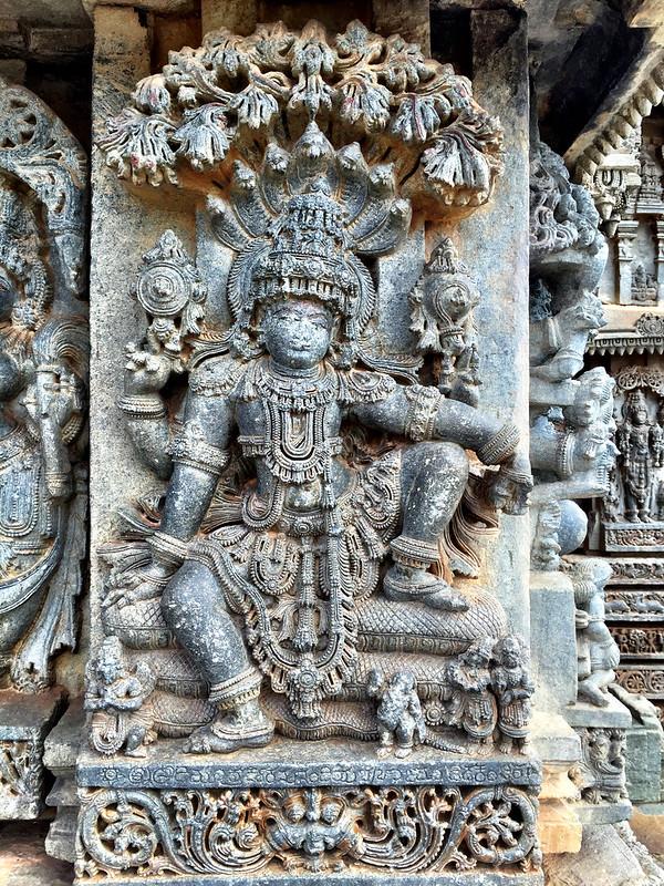 Baichoja's Vishnu, with his signature below...