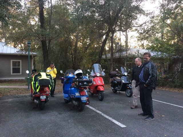 Unofficial Modern Vespa Touring Summit of White Springs, FL. December 9-11, 2015.