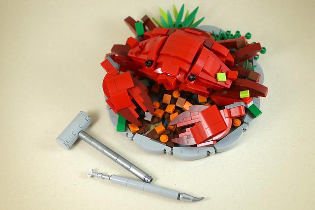 Food Porn LEGO crabe