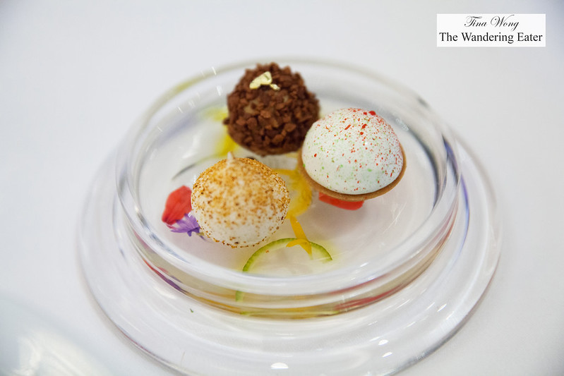 Pre-dessert tarts - Raspberry, chocolate and almond