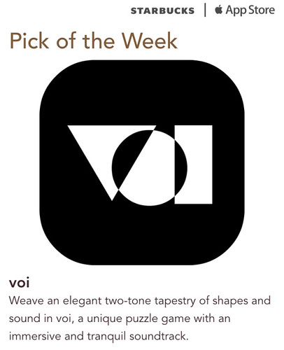 Starbucks iTunes Pick of the Week - voi