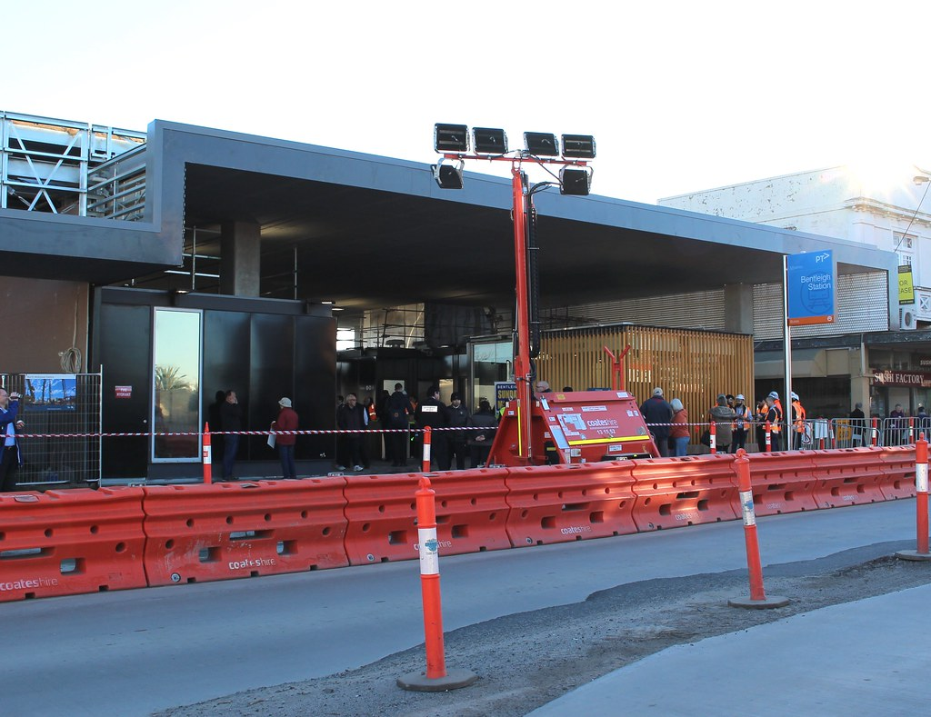 Bentleigh station re-opening day