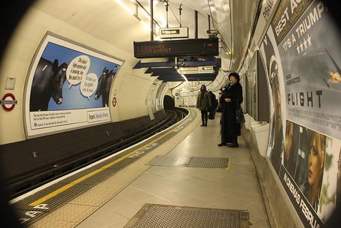 Northbound Northern Line platform at Embankment London Underground station