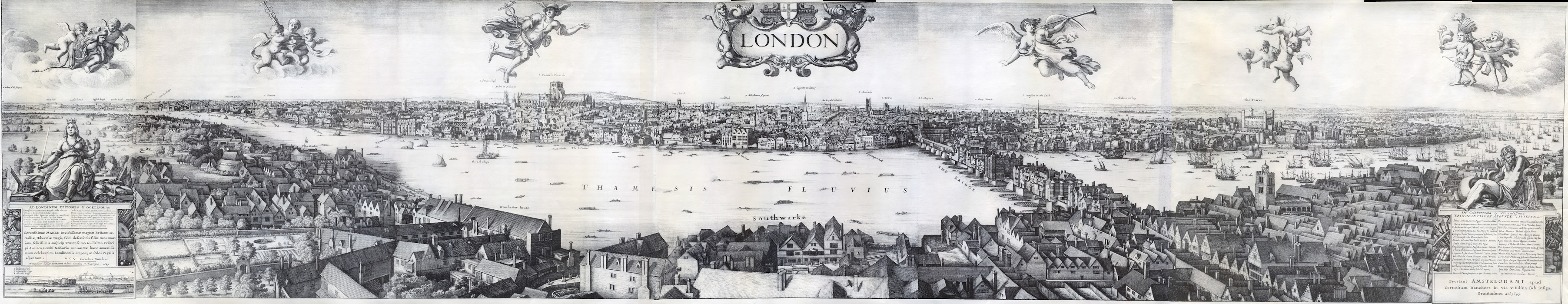 1647_Long_view_of_London_From_Bankside_-_Wenceslaus_Hollar 700px high